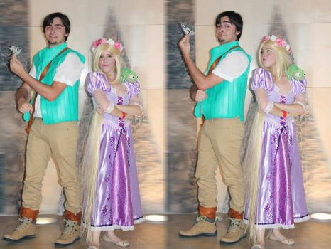 Thats my Crown! Eugine and Rapunzel Cosplay Tangle by MissWeirdCat
