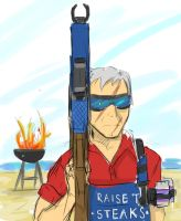 Grillmaster 76 (sketch) by A-Fistful-Of-Kittens