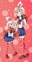 Cherry Soda (and Human! Cherry Soda) with uniform. by Lucy-Paint