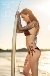 The Surfer babe. Tattoo sleeve by Peter Blackhand by Meatshop-Tattoo