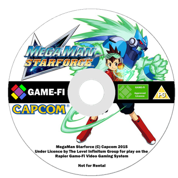 MegaMan Starforce Game-Fi Disk by LevelInfinitum