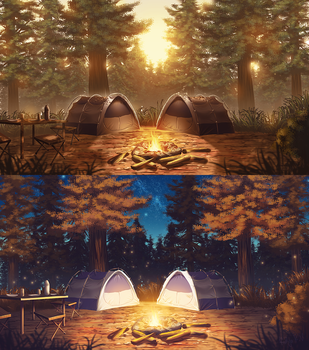 Two Tents by rialynkv