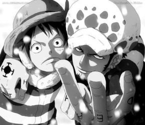 Luffy and Law PunkHazard by Lawlied-98