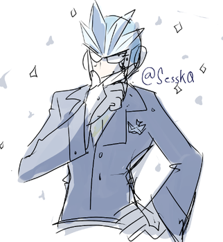 Gemini in a suit by SessK0