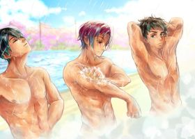 shower time by chwee