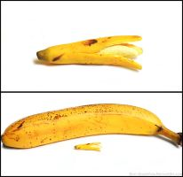 Polymer Clay Banana - Attempt 1 by PepperTreeArt