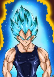 Blue Vegeta by TsugiShine