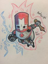 Red Knight - Castle Crashers by SamsterBoy