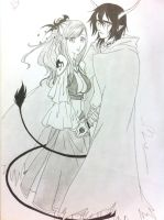 The demon and his lady by meogiavodoi