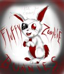 Fluffy Zombie Bunny!!! by Checker-Bee