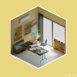 Painter's Workplace by Isometry3D