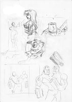 Sketch for JamComic page by mcd91
