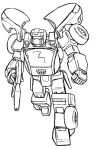 Autobot OC lineart: Delta by Darcad