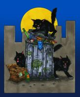 Halloween Countdown Day Three, Black Cats! by BillyJebens