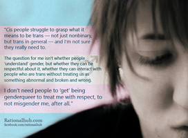 What cis people can do... by rationalhub