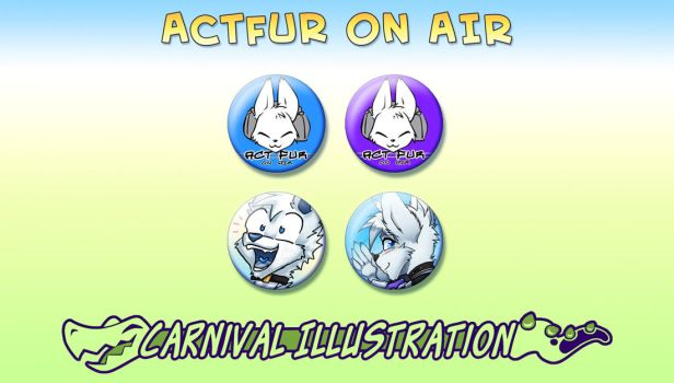 Pin Badges: ActFur on Air retro-set! by carnival