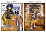 Then And Now: Carmelita in the Morning by shinragod