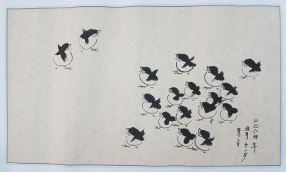 Chinese Painting Chickens by CassPoon
