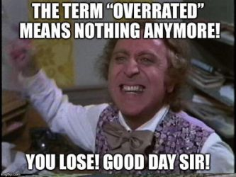 What I think of the term overrated by Willy276