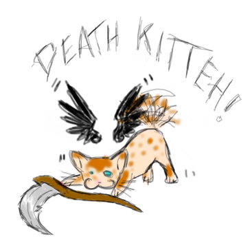Death Kitteh by Deathcomes4u