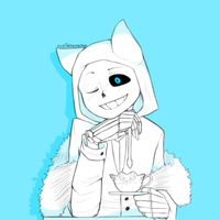 Sans the Cheshire Cat by owoSesameowo