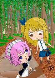 Lucy Hearfilia and Virgo Chibis from Fairy Tail by tamygm21