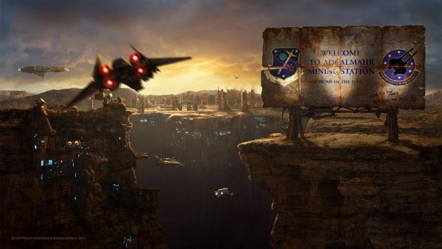 Nydenion-Arrival at Adcalmahr Matte Painting by Jacklionheart