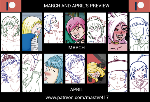 March + April at patreon by master417