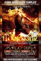 FloorSkillz Dance Flyer -PSD- by retinathemes