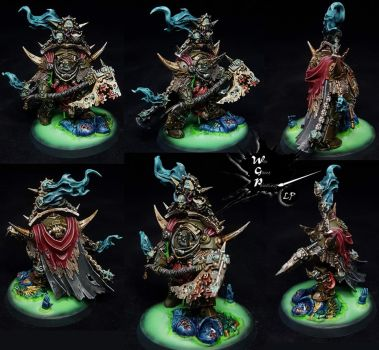 Lord of Contagion Death Guard Commission Warhammer by MyVisionArt