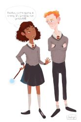Ron and Hermione by sophimartinez