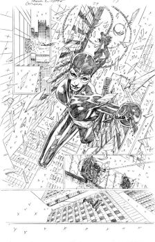 Catwoman 29 page 17 pencils by PatrickOlliffe