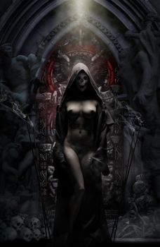Anxiously Searching Lady Death by user-zer0