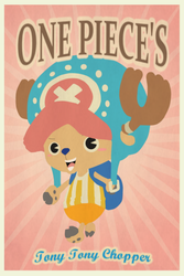 One Piece's Tony Tony Chopper by MinimallyOnePiece