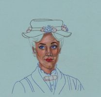 Julie Andrews as Mary Poppins by LaSirenOfEire