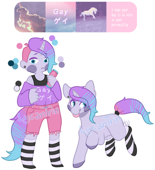 SOLD ADOPT - Edgy Unicorn by LycanTrin