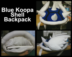 Blue Koopa Shell Backpack by Tezzy-Arts