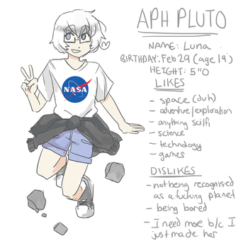 Pluto by QuirkyKoi