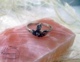 Holly Silver Ring by Rolary