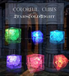 Colorful Cubes stock by StarsColdNight