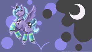 Princess Luna and her Moon Shoes by slifertheskydragon