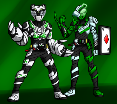 Commission - Build Rider duo by Malunis