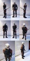 Metal Gear Solid - Gray Fox - Sculpture - Painted by Quartknee