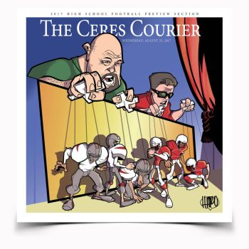 Ceres Courier Highs School Football Cover by haroldgeorge-gsting