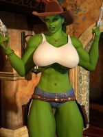 Cowgirl She Hulk 03 by willdial