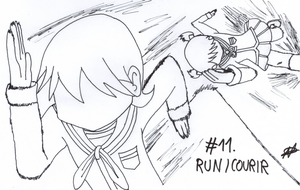 [Inktober 2017] 11 - Run Courir by Nartance