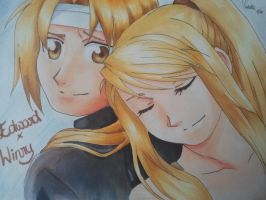 Edward+Winry by Bluebird1305