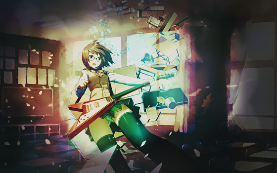 Wallpaper We're Gonna ROCK IT ! Anime Character by Nagamii-Chan