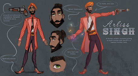 Ref Sheet - Arliss by Lavabeast