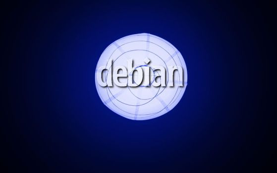 Debian Lamp Blue by Toonik